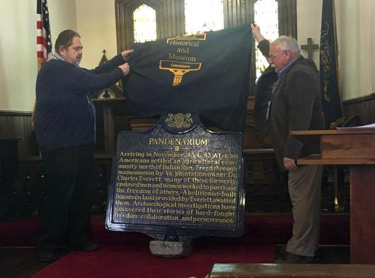 Marker commemorates local settlement of freed slaves