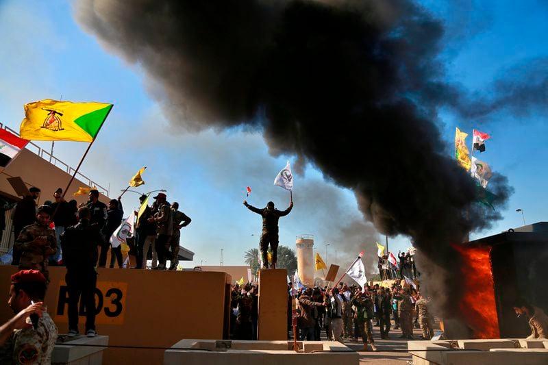 Militiamen breach US Embassy in Baghdad