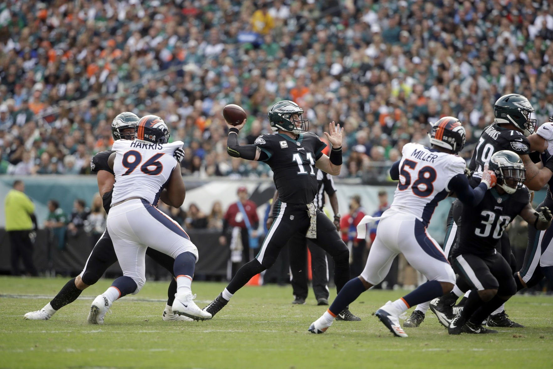 NFL Capsules: Eagles rout Broncos, 51-23, to maintain NFL's best ...