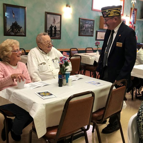 Cpl. Claire Van Eman Grove City VFW Post 519 celebrate 100th