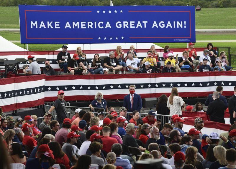 Trump tells Latrobe gathering he's 'back to work'