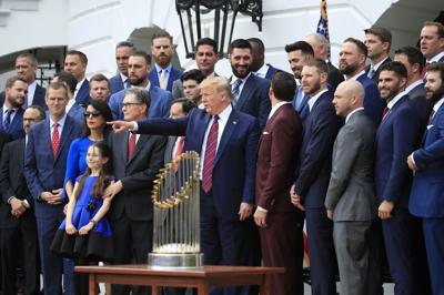Trump Red Sox Baseball
