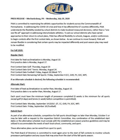 PIAA press release