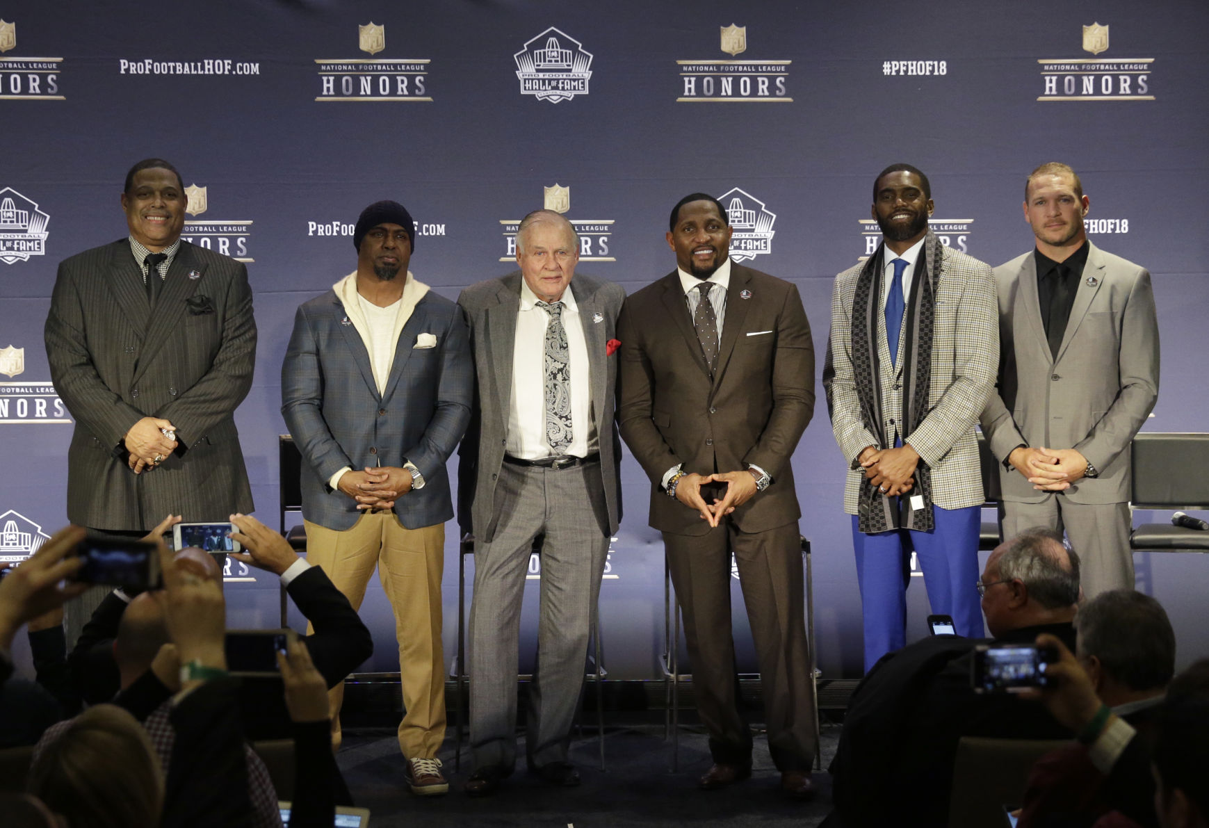 Hall of Fame Lewis Moss Owens Urlacher