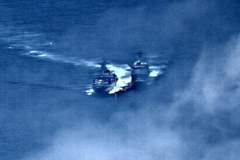 U.S., Russia blame each other as ships nearly collide in Asia