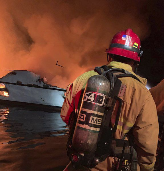 4 die, 29 missing in California dive boat fire; crew jumped