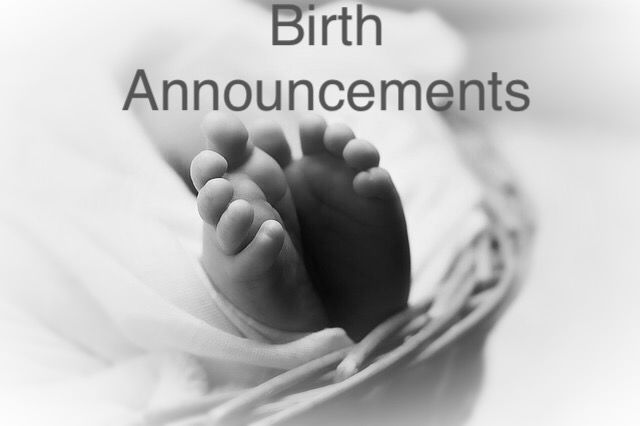Birth announcements from Aug 23 2017 Births – Harrisburg Hospital Birth Announcements