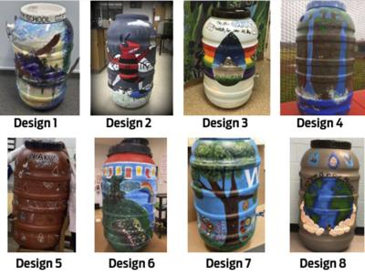 Vote online for rain barrel competition