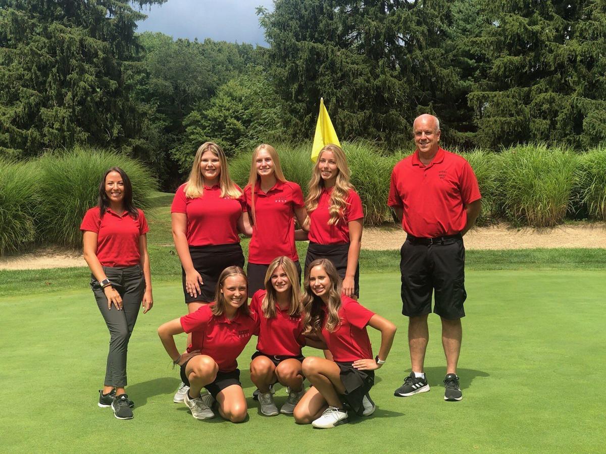 Hickory girls golf clinch region title