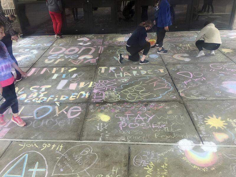 Graffiti as art - and encouragement
