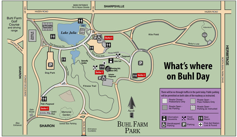 Your guide to Buhl Day 2019 map