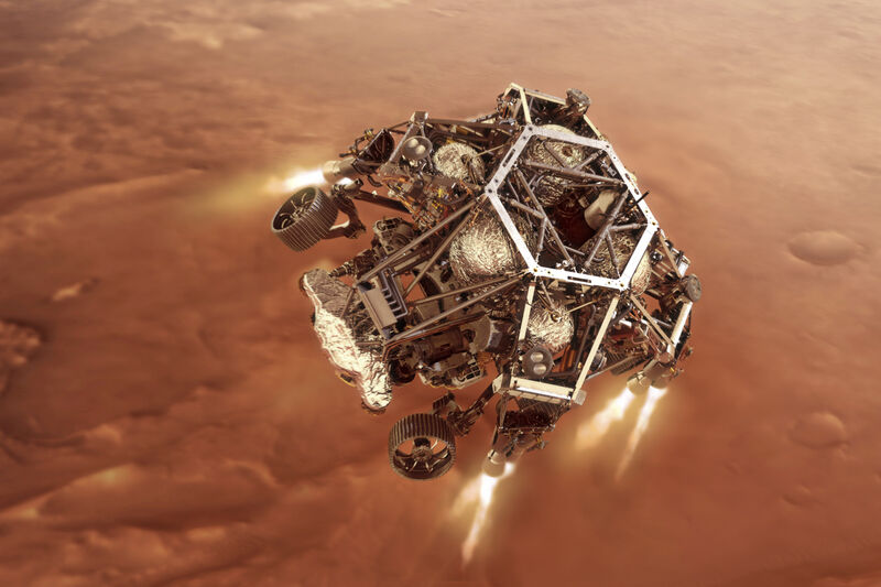 Spacecraft successfully touches down on Mars