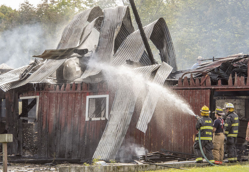 Animals spared in barn fire