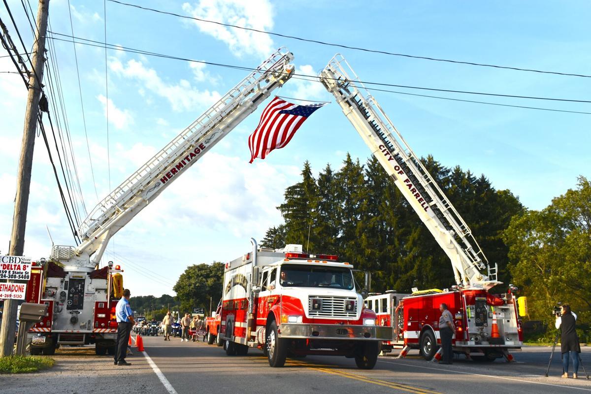 West Middlesex Sept. 11 parade trucks flag