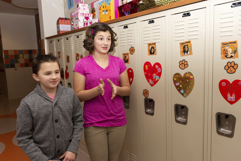 A labor of love: Case student makes valentines for everyone in the school