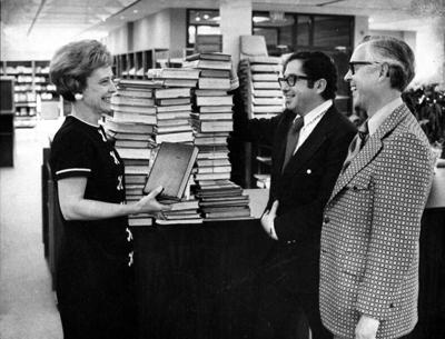Longtime library head Evans turning 100