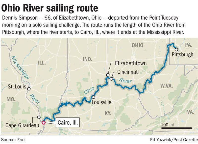 Teacher plans solo trip sailing the length of the Ohio River