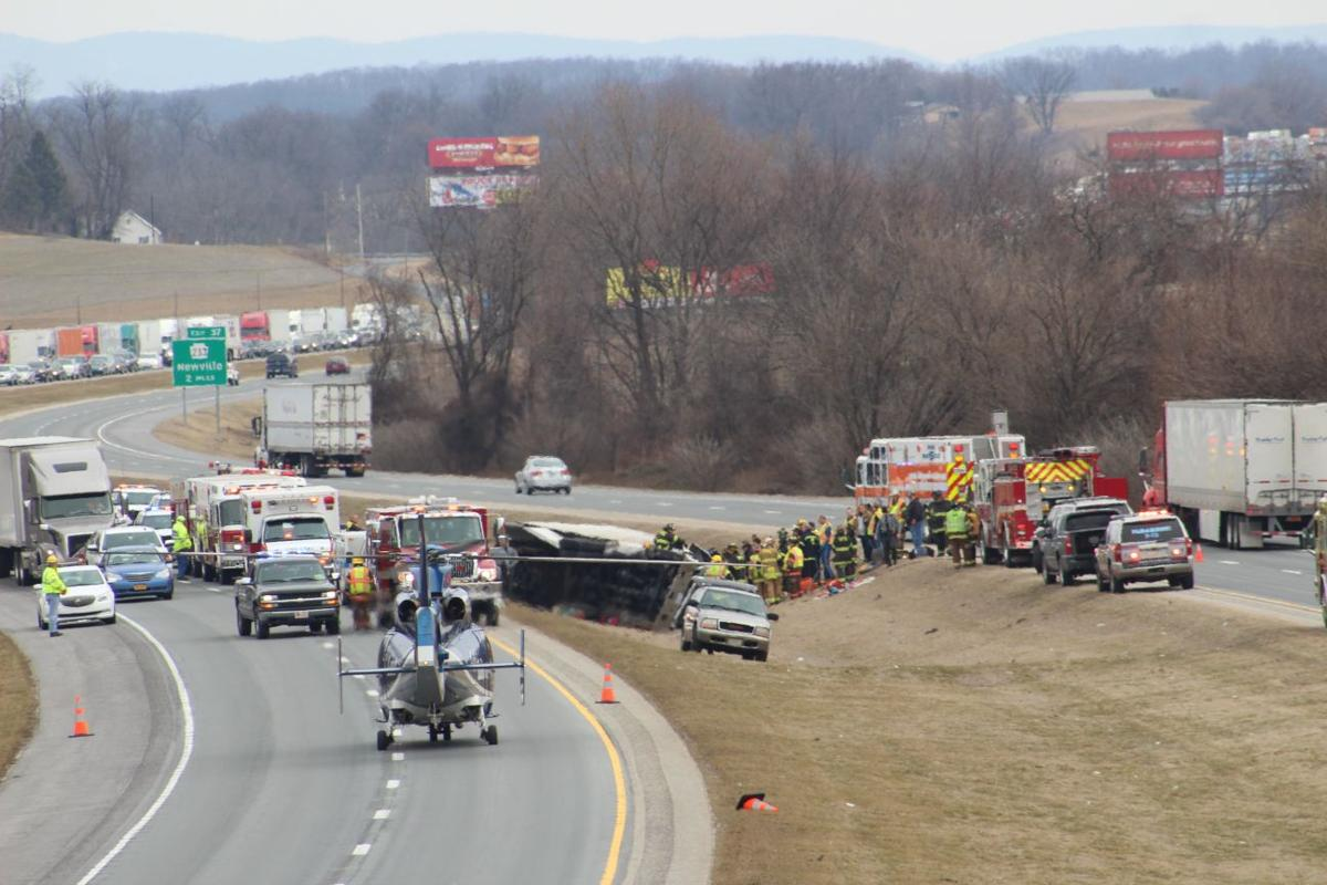 Tractor-trailer overturns on I-81   Local News   shipnc com