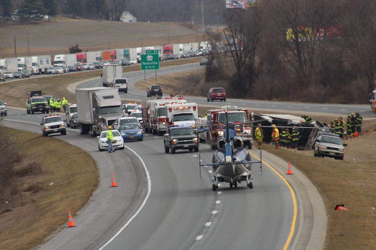 Tractor-trailer overturns on I-81 | Local News | shipnc com