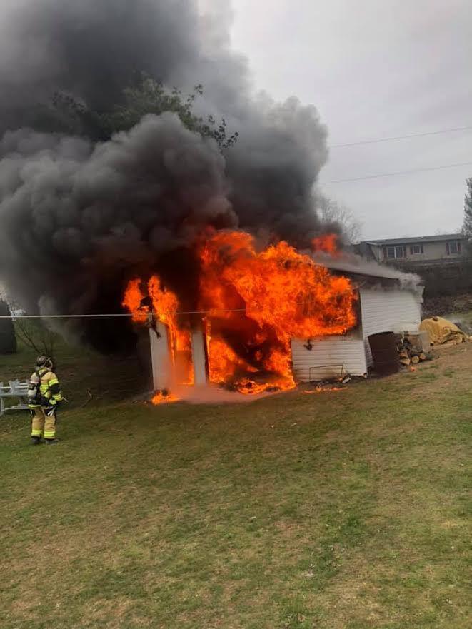 Hamilton Township Garage Fire