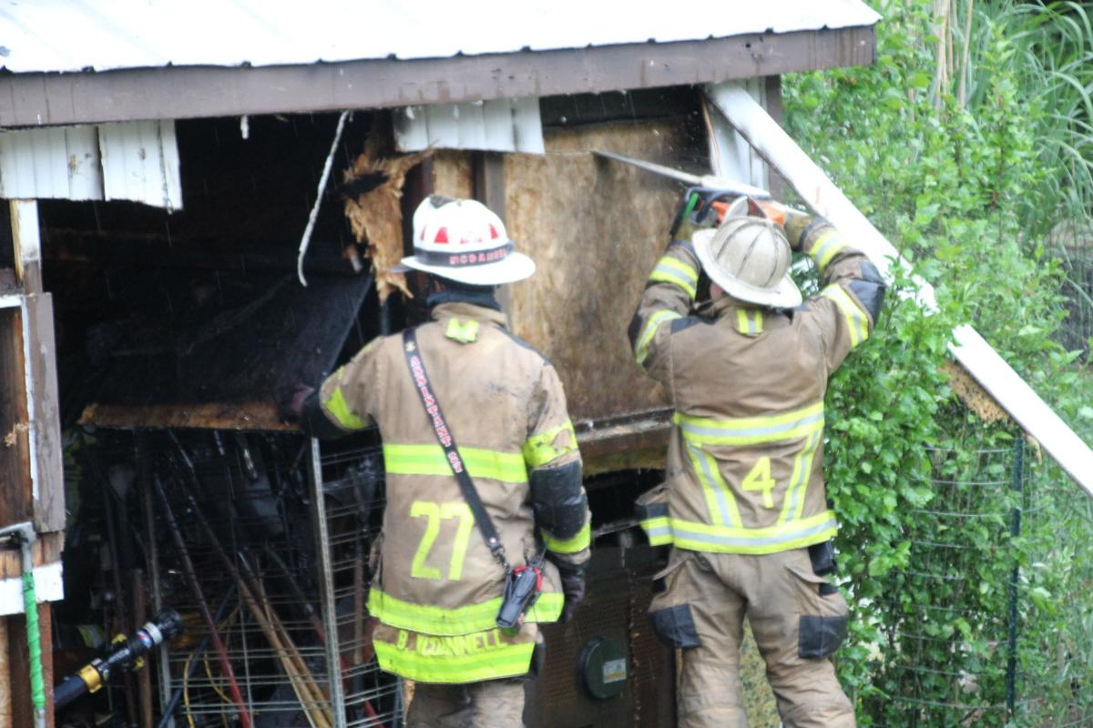 Greene Township Garage Fire