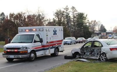 Four Vehicle Crash