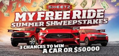 "Sheetz launches ""My Free Ride"" Summer Sweepstakes"