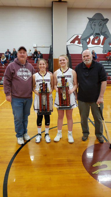 SASHS Girls Basketball VFW MVPs