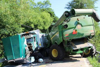 No injuries reported in combine-dump truck crash | Police | shipnc com