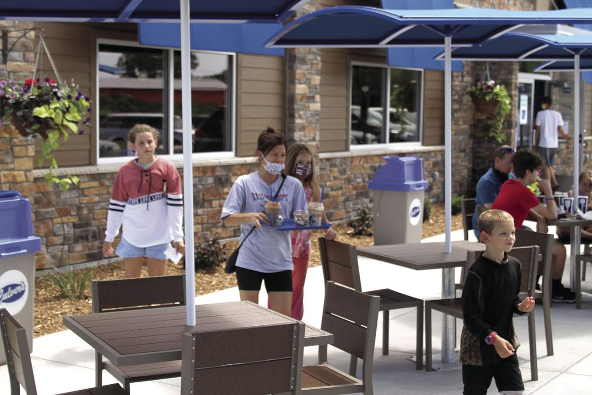 Wells family at Culver's