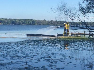 Bass Lake boat fire
