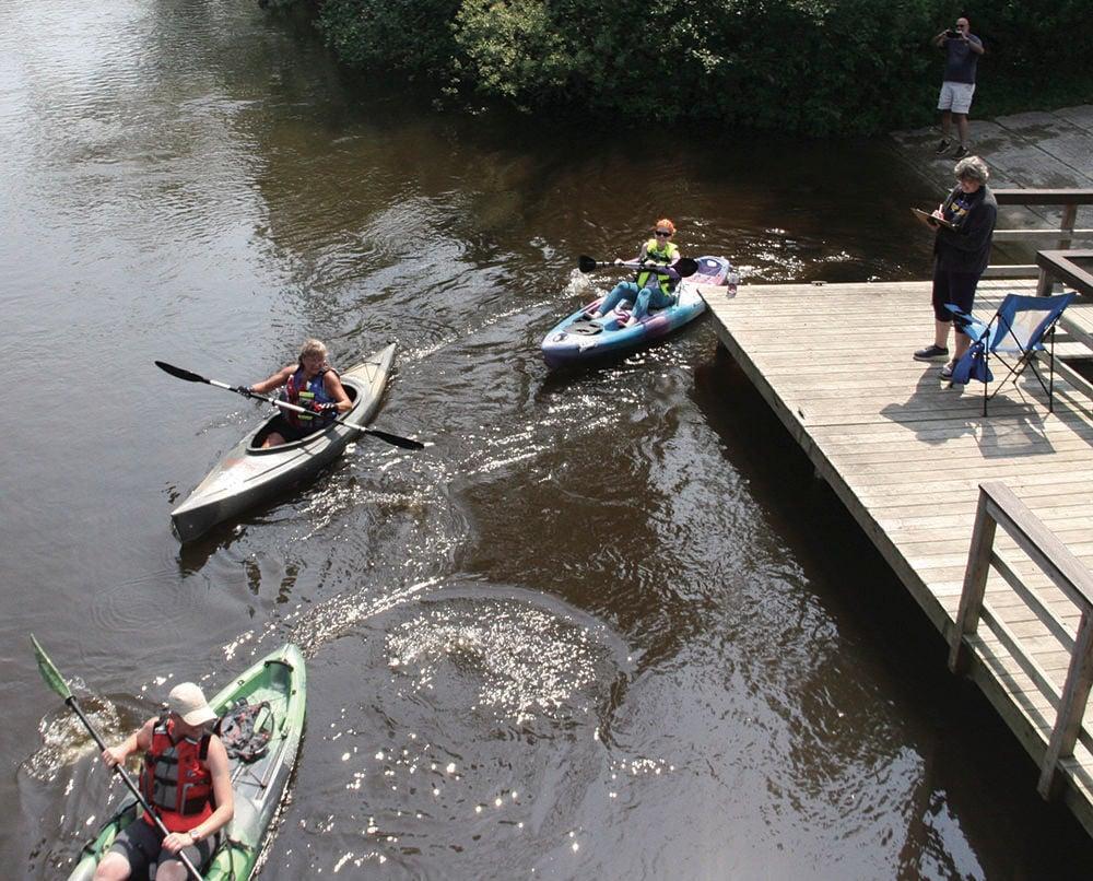 Kayakers in Spartan River Races