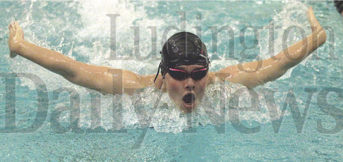 Ludington girls swim duals