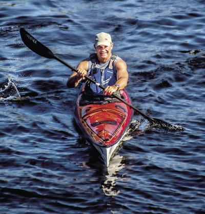 Mike Stout kayaking