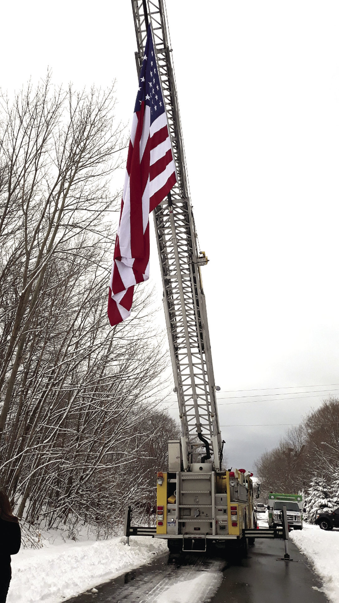 Flag lowered for groundbreaking