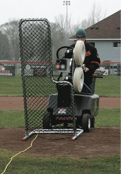 Ludington's new pitching machine