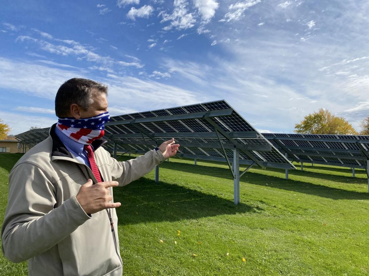 Jeff Mount, MCC solar panel arrays
