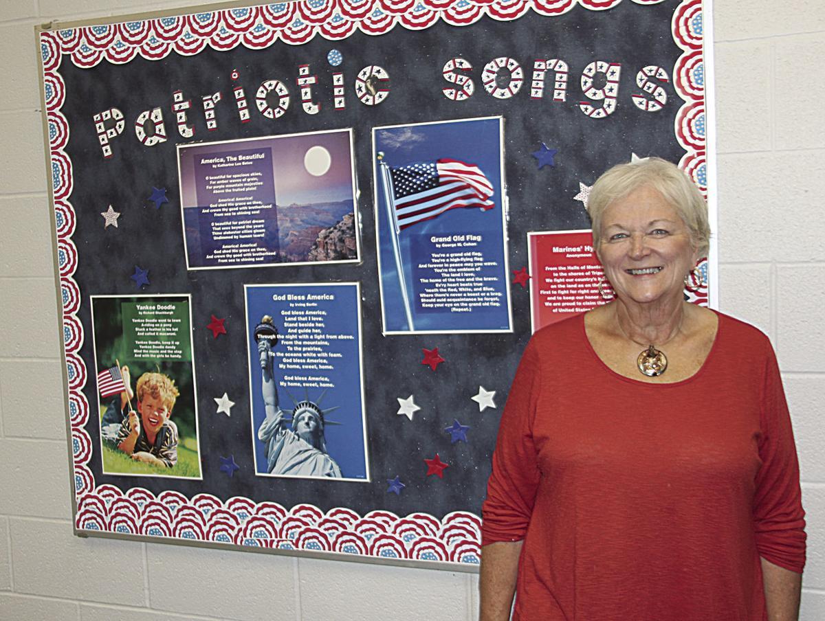RRO music teacher is recognized for her patriotism