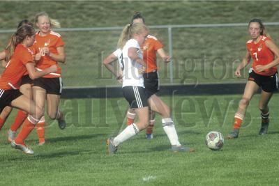 MHSAA Div. 3 girls soccer district at Ludington