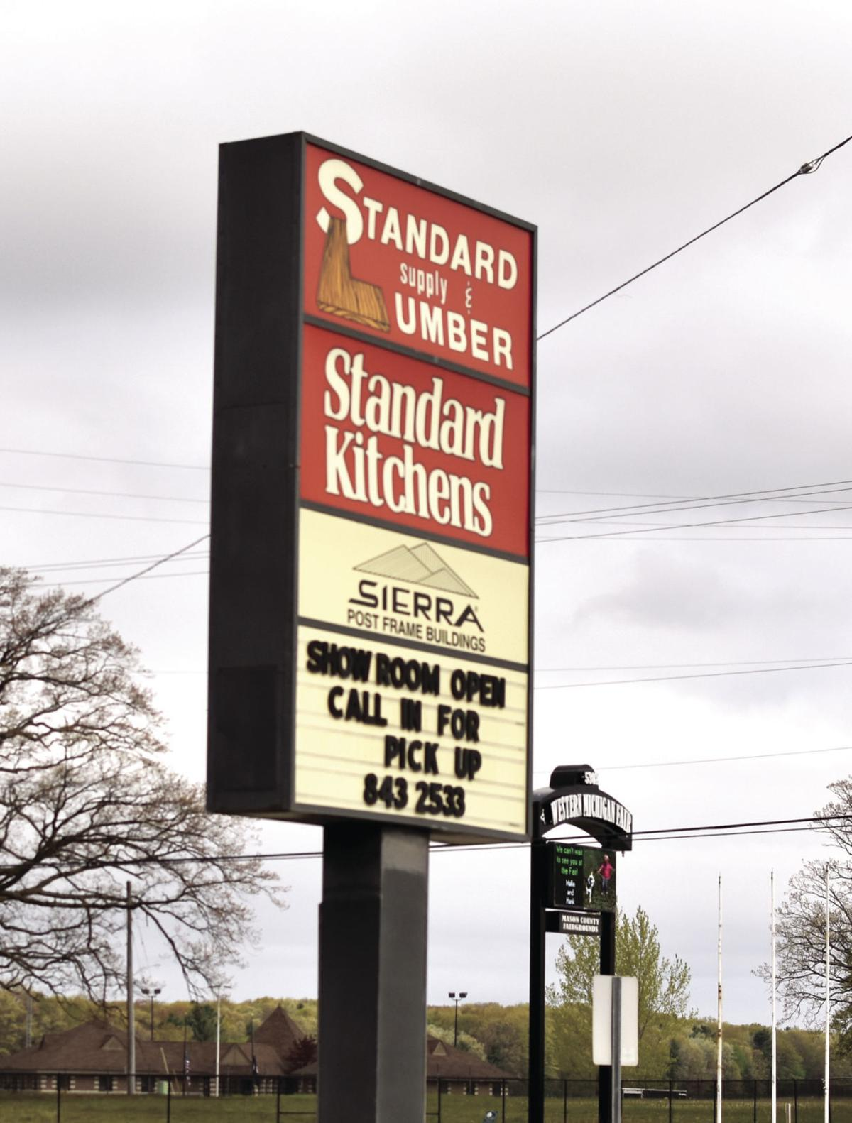 Standard Lumber sign