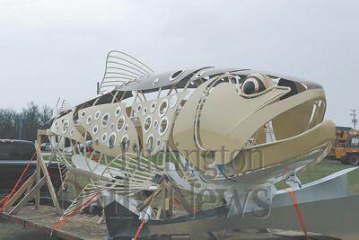 Baldwin trout sculpture
