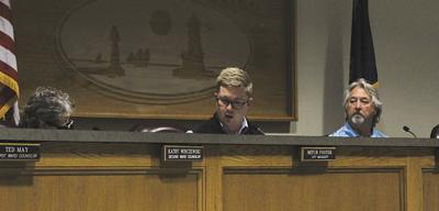 Mitch Foster at Ludington City Council