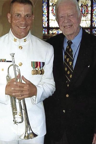 Michael Bogart with former President Jimmy Carter