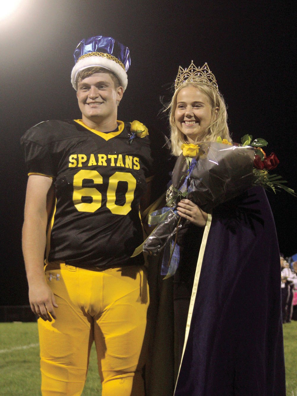 2021 Mason County Central homecoming king and queen