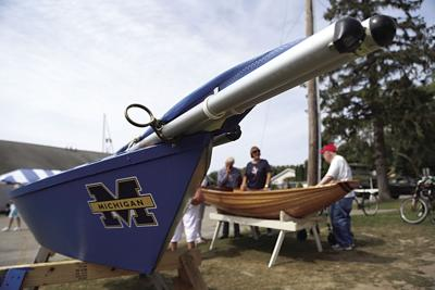 Homemade sail boat GoBlue