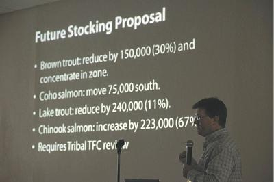 DNR to increase salmon stocking, reducing lake trout, brown