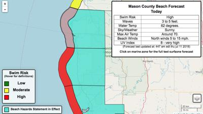 Mason County beach forecast
