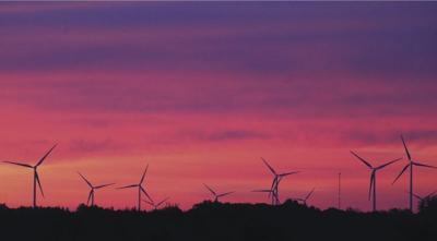Turbine sunrise