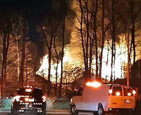 Fire department: Family escapes blaze that destroyed their Groton home