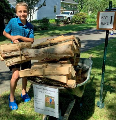 Saybrook 8-year-old starts Carson's Camp Wood for charity, profit